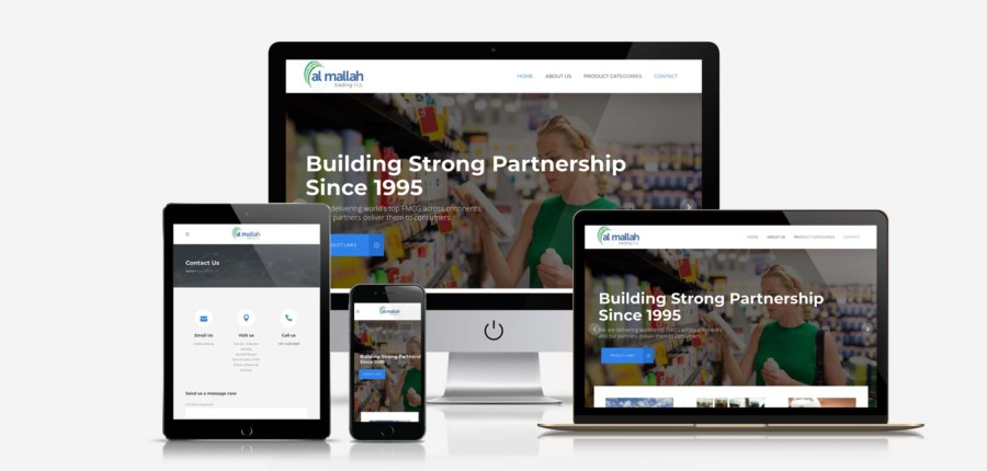 Corporate Website for Al Mallah Trading